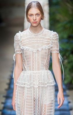 Erdem marianne north white lace crochet dress spring 2015