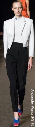Alexander wang spring 2015 tuxedo pants trousers