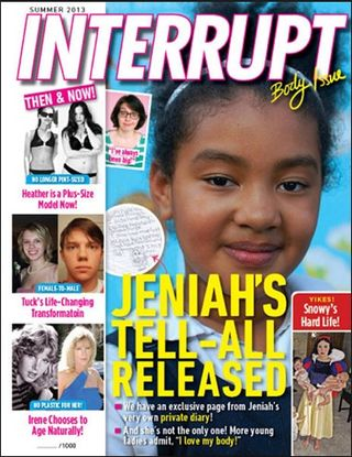 Interrupt magazine tabloid print cover