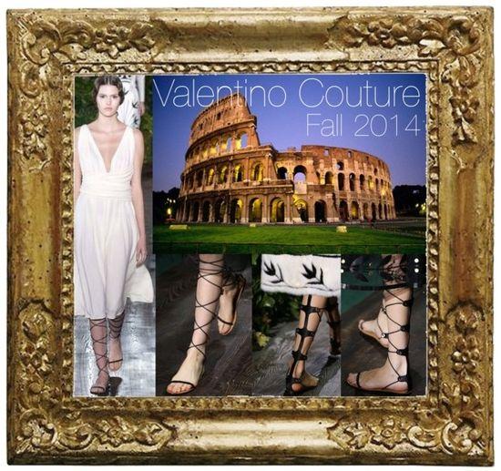 Gladiator sandals valentino couture