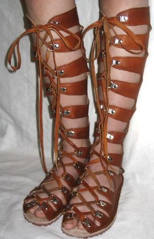 Handmade roman gladiator sandals
