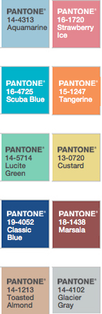 Pantone colors colours spring 2015