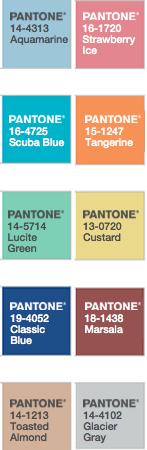 Pantone colors colours spring 2015