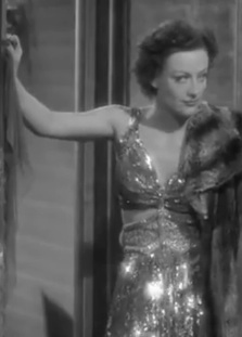 Cukor the women joan crawford gold lame fashion dress
