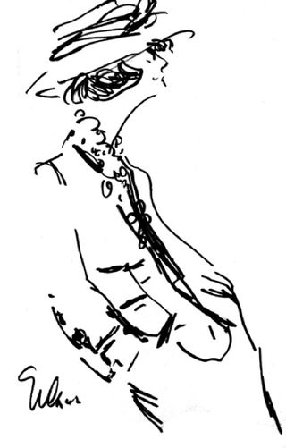Joe eula coco chanel fashion sketch illustration