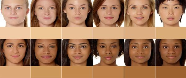 Skin tones airbrush makeup