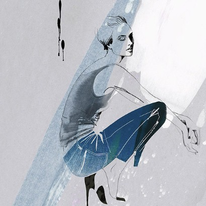 Skinny jeans illustration