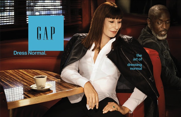 Gap dress normal normcore ad angelica houston michael k williams