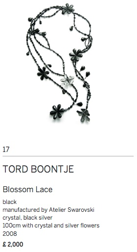 Tord boontje blossom lace fashion art accessories