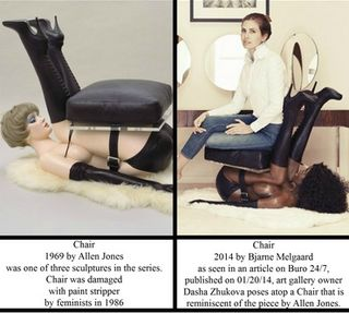 Comparison allen jones bjarne melgaard chair