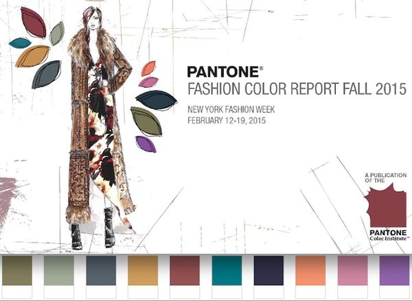 Pantone fall 2015 fashion colors color colour report palette forecast