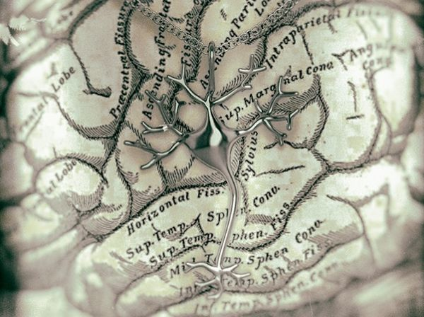 Precious metal neuron pendant