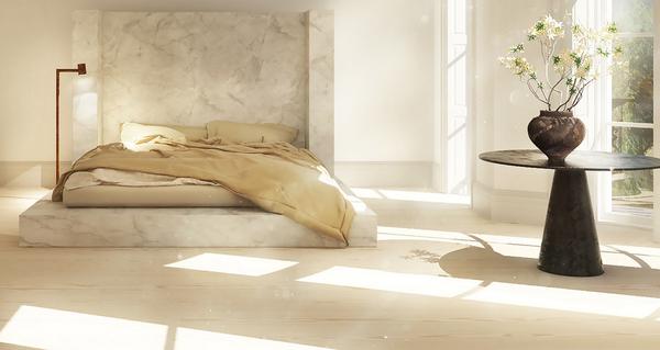 Rick owens fashion designer home decor marble alabaster bed