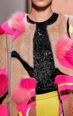 Schiaparelli couture fall 2015 fur
