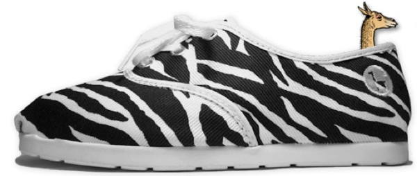 Alpargata shoes zebra stripe print