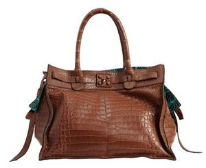 Zagliani gatsby croc bag purse tote handbag