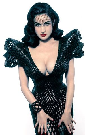 Dita von teese printed dress