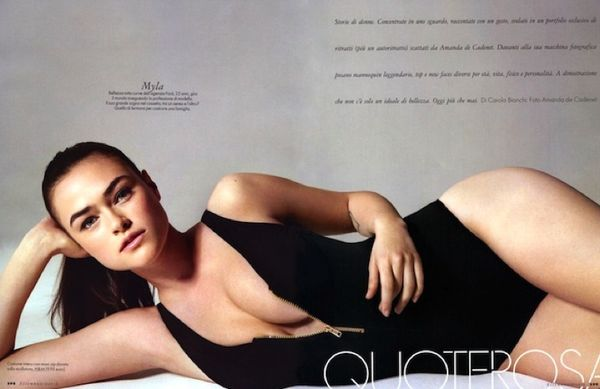 Myla Dalbasio plus size models calvin klein perfectly fit
