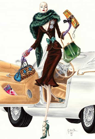 Luxury fashion illustration