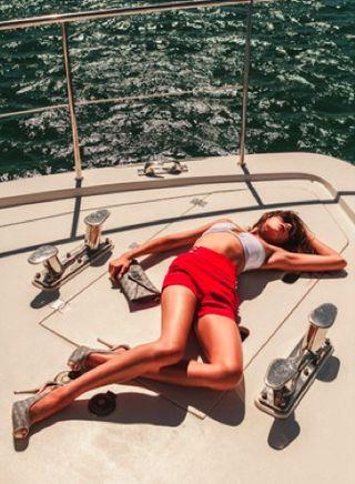 Fashion editorial yacht