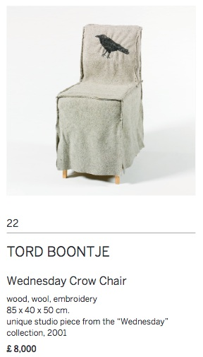 Tord boontje wednesday crow chair fashion art furnishings textiles