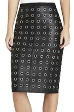 Custom leather grommets pencil skirt