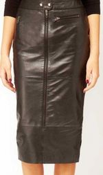 Custom leather rachael blade runner pencil skirt