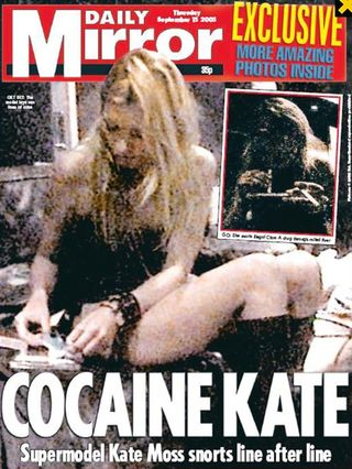 Kate moss cocaine tabloid cover mirror