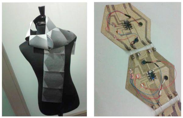 Microsoft swarm scarf wearable technology future of fashion