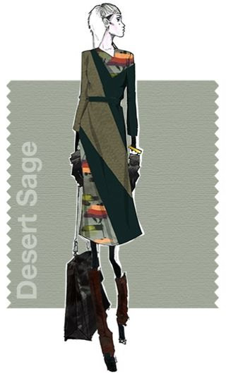 Desert sage raoul fall 2015 pantone fashion illustration color colour report