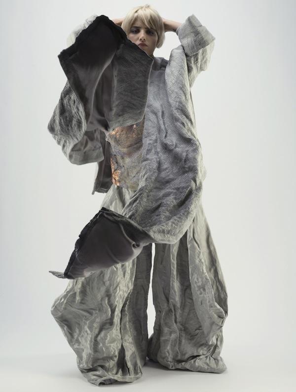 Marie cunliffe metal fabric fashion