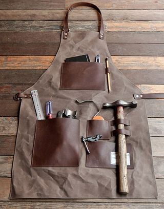 Leather apron hammer