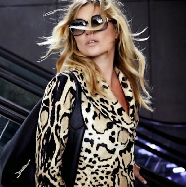 Gucci kate moss leopard coat jackie bag handbag purse