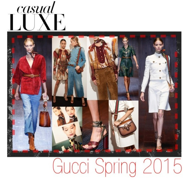 Gucci spring summer 2015 runway collection details closeups