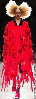 Comme des garcons roses blood red spring 2015