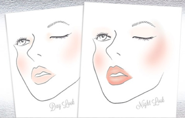 Day evening makeup looks illustration