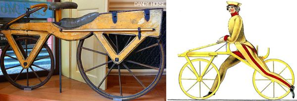 Dandy horse bicycle illustration