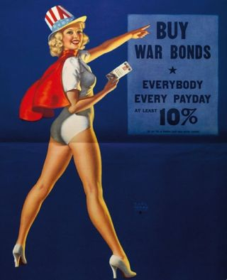 Ww II world war 2 pin up bond