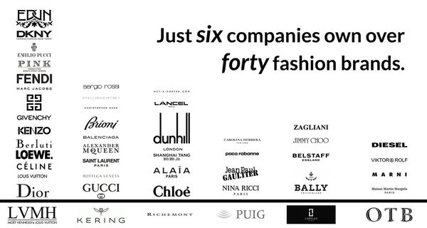 Six luxury fashion conglomerates