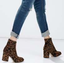 Leopard ankle boots fashion trend