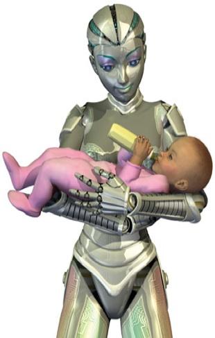 Robot cyborg babysitter