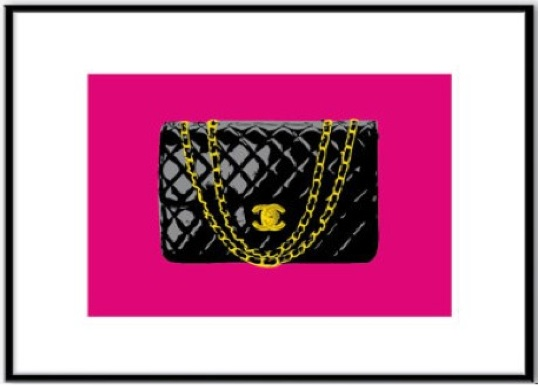 Chanel 255 bag handbag purse painting picture