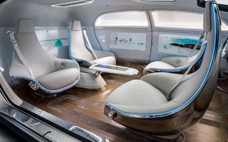 Mercedes f 015 self driving car inside