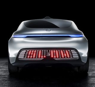 Mercedes f 015 self driving car behind