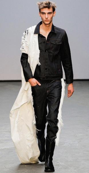 Xander zhou denim cowboy wild west fashion collection