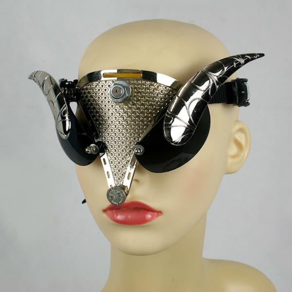Steampunk retro futuristic 3D googles headsets glasses