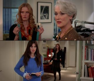 Devil wears prada blue sweater scene