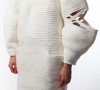 Coiled basket sweater