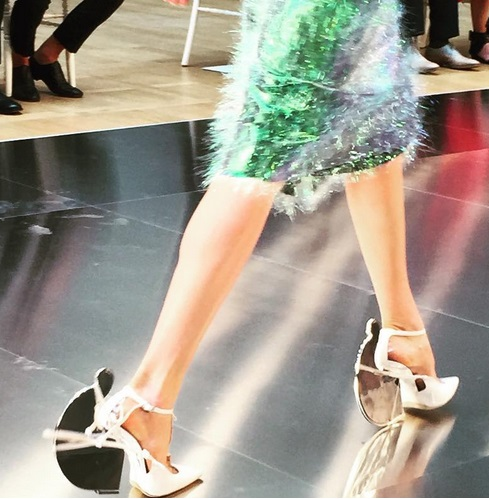 Galliano margiela fall 2015 luminiscent skirt