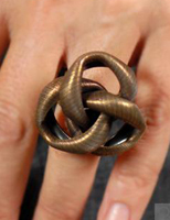 fashion: Knock 'em Dead with an Oversized Brass Knot Ring from Twisted Silver from fashiontribes.typepad.com